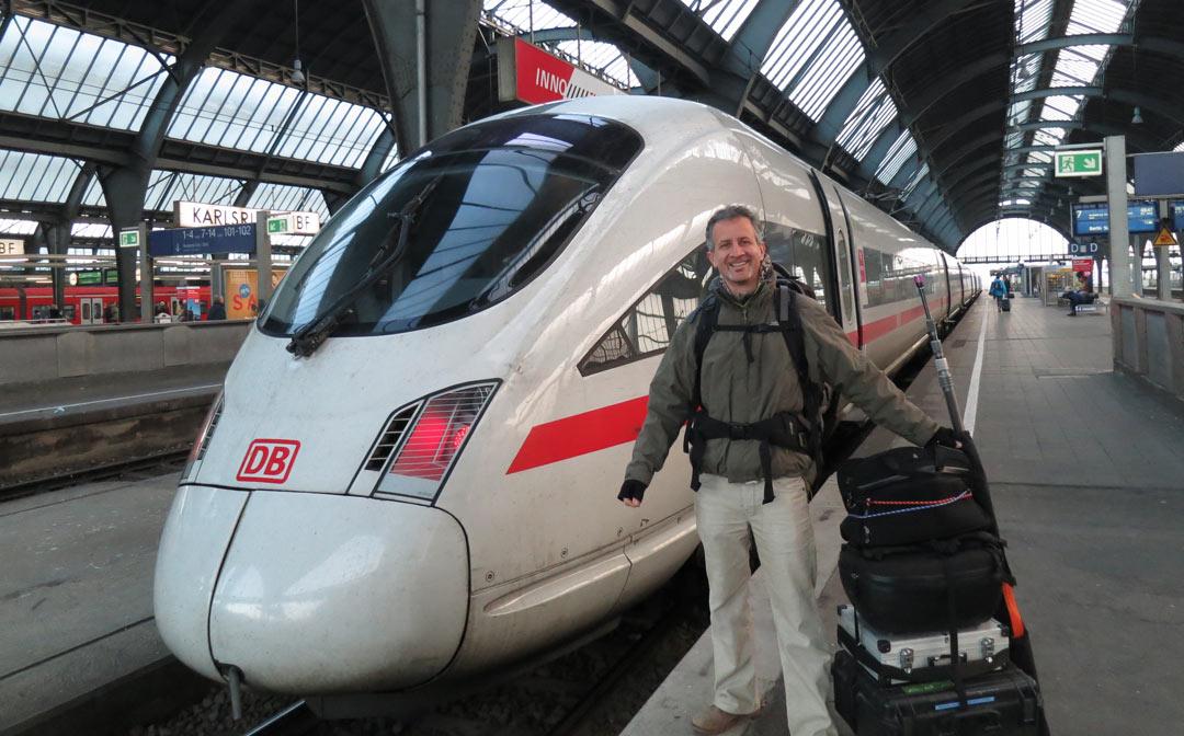 WeCamFly Oliver Jergis ICE nach Berlin